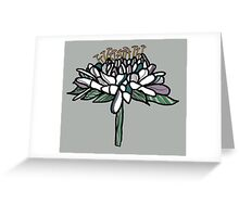 Field Scabious flower Greeting Card