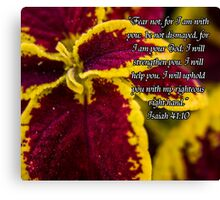 Beautiful Plant w/Scripture Canvas Print