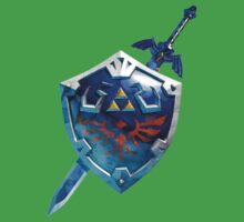 Hylian Shield And Master Sword by YouKnowThatGuy