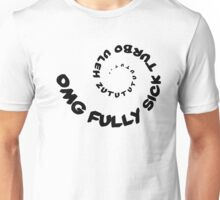 Omg That Fully Sick Turbo Uleh - Tee / Sticker Gag Design - Black Unisex T-Shirt