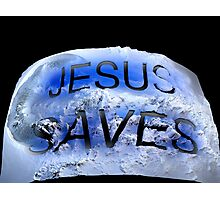 JESUS SAVES  Photographic Print