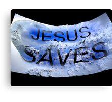 Jesus saves 2 Canvas Print