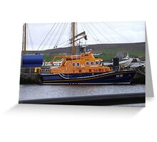 Lerwick lifeboat in harbour Greeting Card