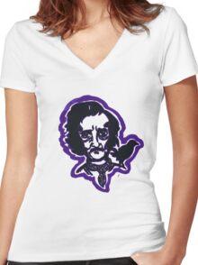 Mr. Poe Tee Shirt Women's Fitted V-Neck T-Shirt