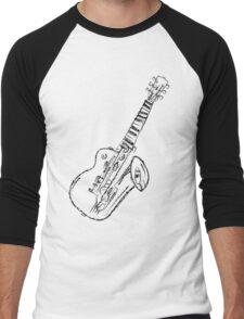 Abstract Music - Black 45 Degrees Men's Baseball ¾ T-Shirt