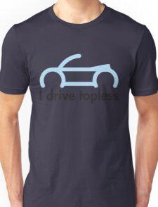 VW Convertible - I drive topless® - light blue Unisex T-Shirt