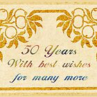 50 Years Birthday Greeting Card by Vickie Emms