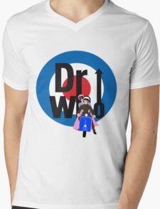 The Dr WHo Mens V-Neck T-Shirt