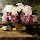 Bouquet of peonies by Sviatlana Kandybovich