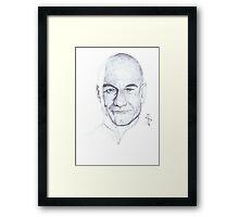 WIP - Patrick Stewart Framed Print