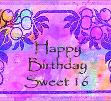 Happy Birthday Sweet Sixteen by Vickie Emms