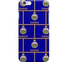 Smartphone Case - State Flag of Kansas - Patchwork Horizontal iPhone Case/Skin