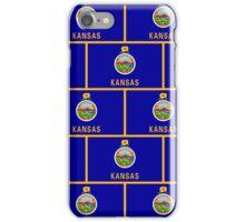 Smartphone Case - State Flag of Kansas - Patchwork Horizontal iPhone Case/Skin