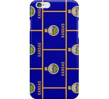 Smartphone Case - State Flag of Kansas - Patchwork Vertical iPhone Case/Skin
