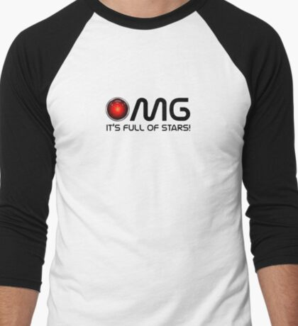 OMG - a space odyssey Men's Baseball ¾ T-Shirt