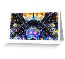 blue beam Greeting Card