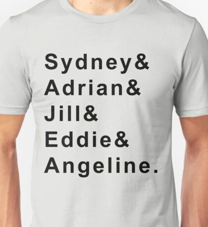Bloodlines Character First Names: Black Print Unisex T-Shirt