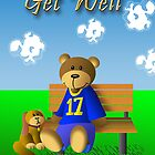 Get Well Bear and Dog by jkartlife