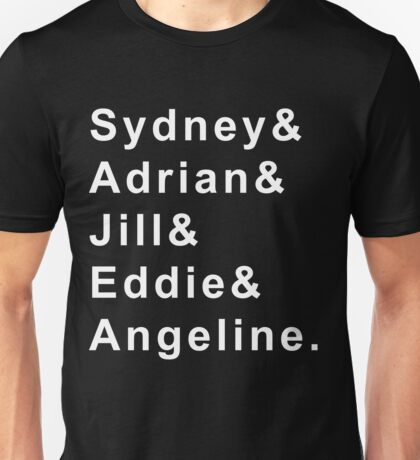 Bloodlines Character First Names: White Print Unisex T-Shirt