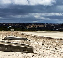 No vehicles past this point at Island Beach, Kangaroo Island by Elana Bailey
