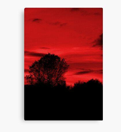 Blood Sky Canvas Print