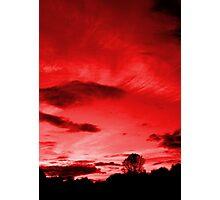 Scarlett Sky Photographic Print