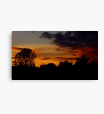 Ominous Orange Canvas Print