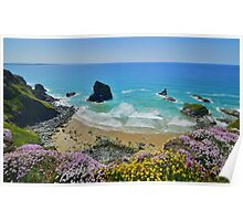 Cornwall: Colours on the Coast at Bedruthan Poster
