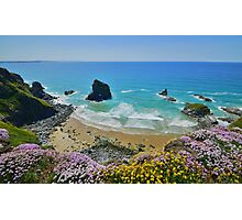Cornwall: Colours on the Coast at Bedruthan Photographic Print