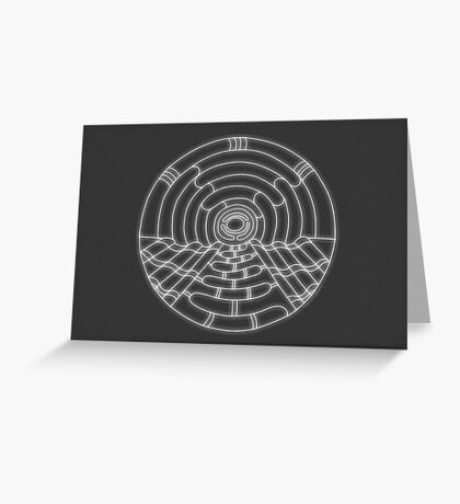 Music Hall Card - white design Greeting Card