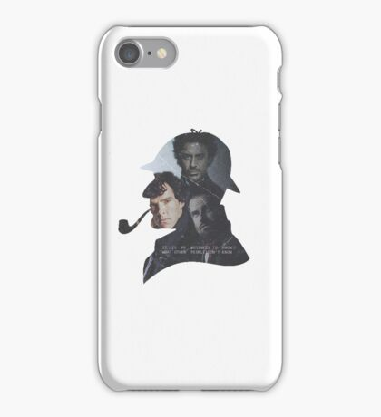 Modern-day Sherlock Holmes Incarnations iPhone Case/Skin