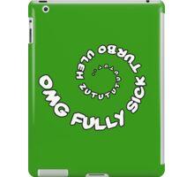 Omg That Fully Sick Turbo Uleh - Sticker / Tee Gag Design - White iPad Case/Skin