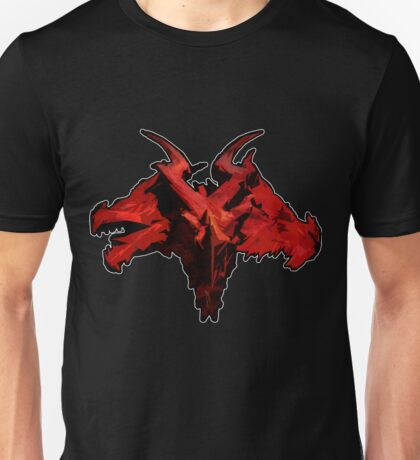 Three-Headed Dragon, Red Unisex T-Shirt