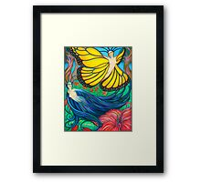 The Raven and the Butterfly Framed Print