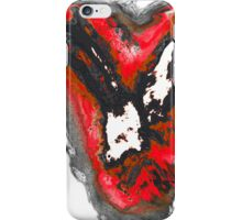 Black and red and white phoenix bird iPhone Case/Skin