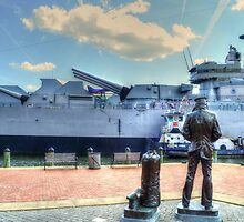 USS Wisconsin Lone Sailor by WestBigSky