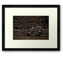 WWII Jeep Framed Print