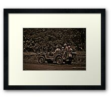 WWII Jeep Framed Print
