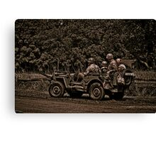 WWII Jeep Canvas Print