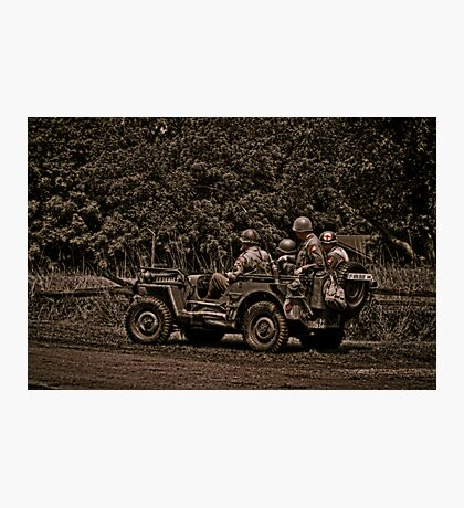 WWII Jeep Photographic Print