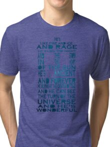 Doctor Who Tardis Quote Design Tri-blend T-Shirt