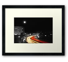 City and the moon Framed Print