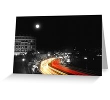 City and the moon Greeting Card