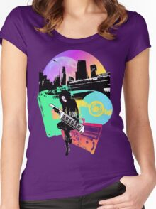 Retro City Warrior Women's Fitted Scoop T-Shirt