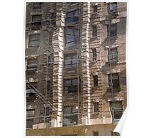 New York Fire Escapes Poster