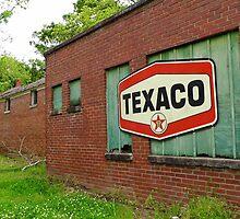 Texaco Sign by WildestArt