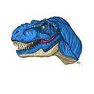 Feeling Blue T-Rex by bleachy