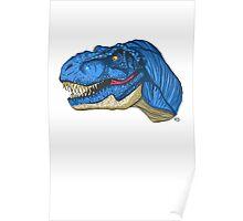 Feeling Blue T-Rex Poster