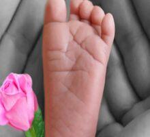 ☀ ツBABY'S FOOT AND ROSE TEE SHIRT PRECIOUS MEMOIRES☀ ツ Sticker