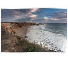 Dusk Hole in the Wall Beach - Santa Cruz Poster